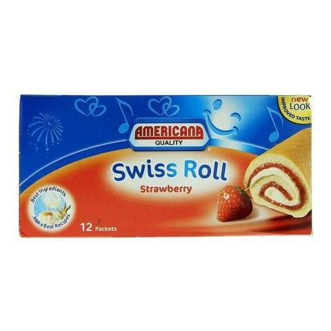 Americana Strawberry Swiss Rolls Cake 55g x Pack of 12 - 2kShopping.com - Grocery | Health | Technology