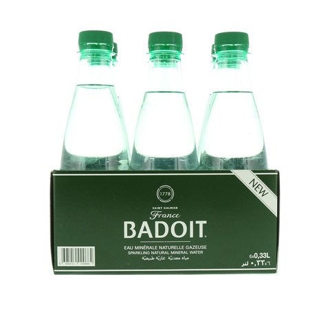Badoit Sparkling Natural Mineral Water 330ml x Pack of 6 - 2kShopping.com