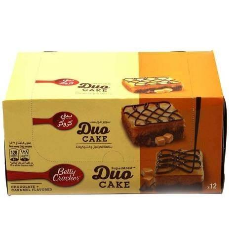 Betty Crocker Duo Cakes Chocolate with Caramel 35g x Pack of 12 - 2kShopping.com - Grocery | Health | Technology