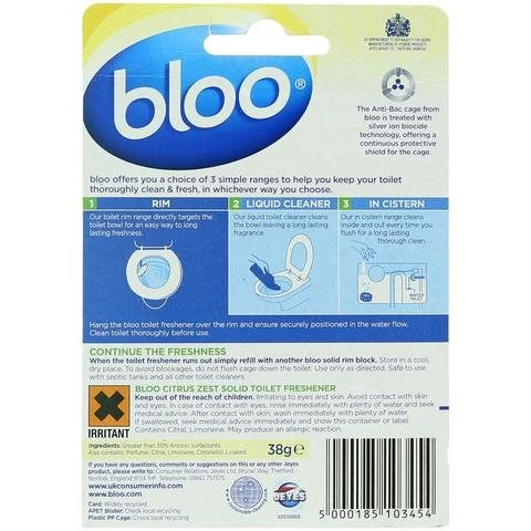 Bloo Anti Bac Solid Rim Citrus 38g - 2kShopping.com
