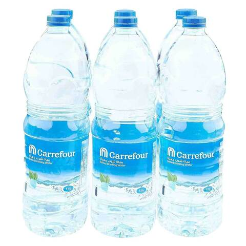 Carrefour Bottled Drinking Water 1.5L x Pack of 6 - 2kShopping.com