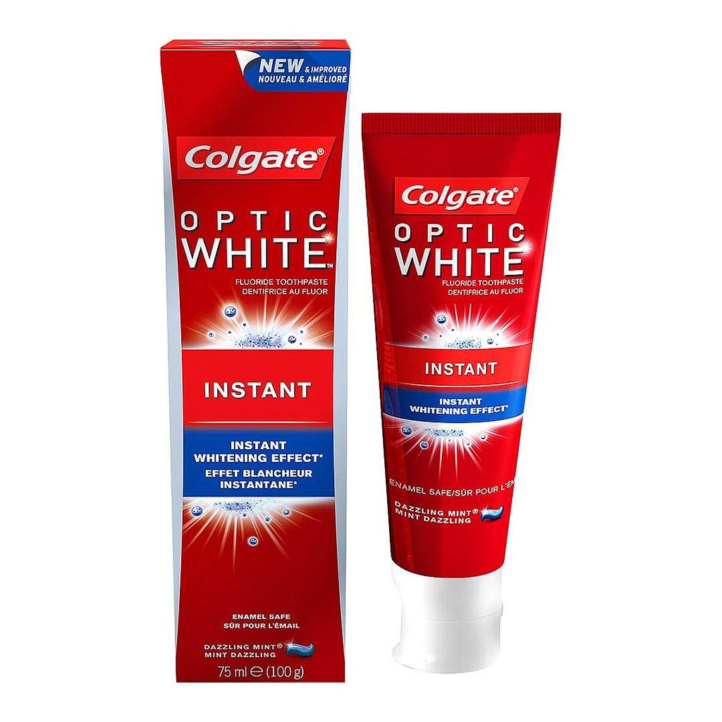 Colgate Optic White Instant Whitening Toothpaste 75 ML - 2kShopping.com - Grocery | Health | Technology