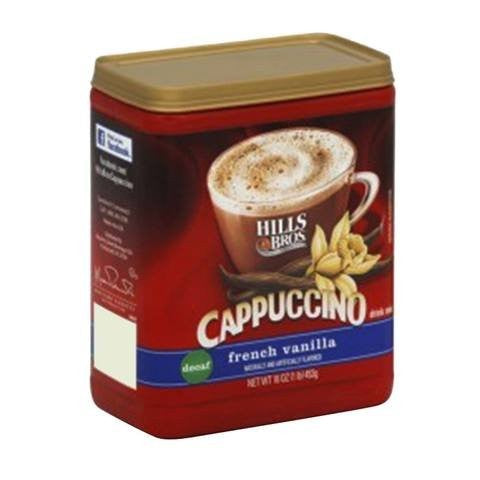 Hills Bros Cappuccino French Vanilla Instant Coffee Mix 454g - 2kShopping.com