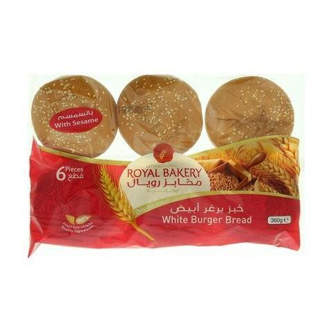 International Royal Bakery White Burger Bread With Sesame 360g - 2kShopping.com - Grocery | Health | Technology
