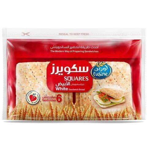 L'usine Squares White Sandwich Bread 252g - 2kShopping.com - Grocery | Health | Technology