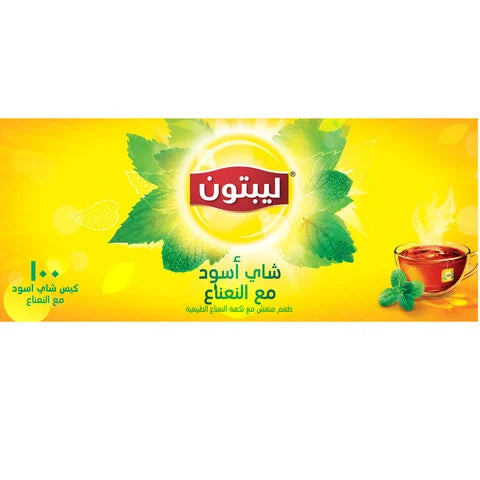 Lipton Black Tea with Mint Tea 100 Tea Bags... - 2kShopping.com