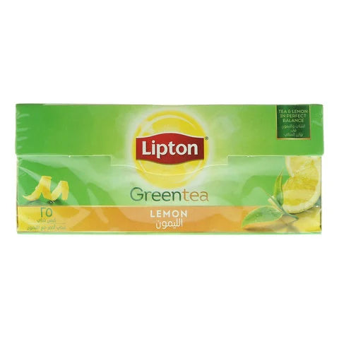 Lipton Green Tea Lemon 25 Tea Bags - 2kShopping.com