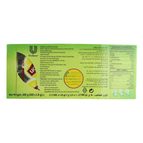 Lipton Green Tea Moroccan Mint Tea 100 Tea Bags - 2kShopping.com