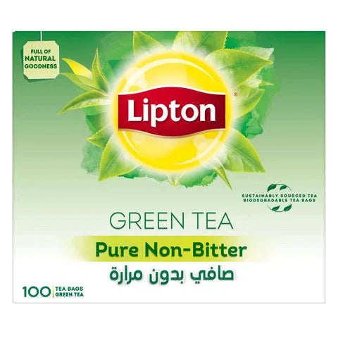 Lipton Green Tea Pure Non Bitter 100 Tea Bags - 2kShopping.com