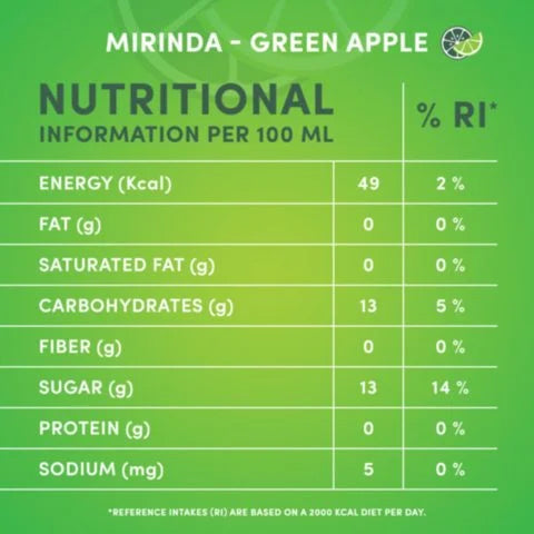 Mirinda Green Apple Carbonated 355ml Cans - 2kShopping.com