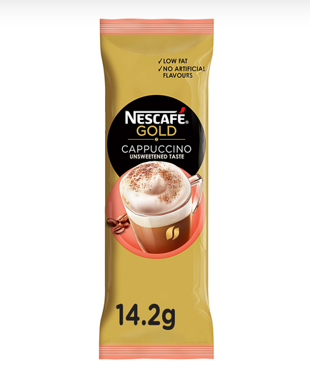 Nescafe Gold Cappuccino Unsweetened Taste Coffee Mix 14.2g - 2kShopping.com