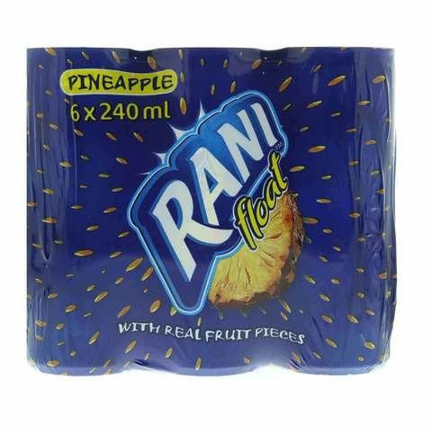 Rani Pineapple Float with Real Fruit Pieces 240ml x Pack of 6 - 2kShopping.com