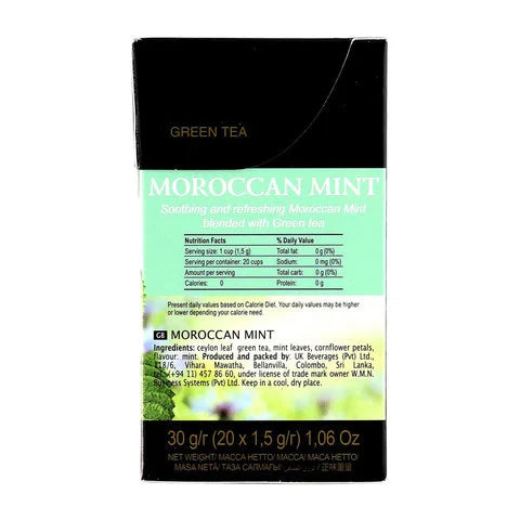 Riston Moroccan Mint Green Tea 20 Tea Bags - 2kShopping.com