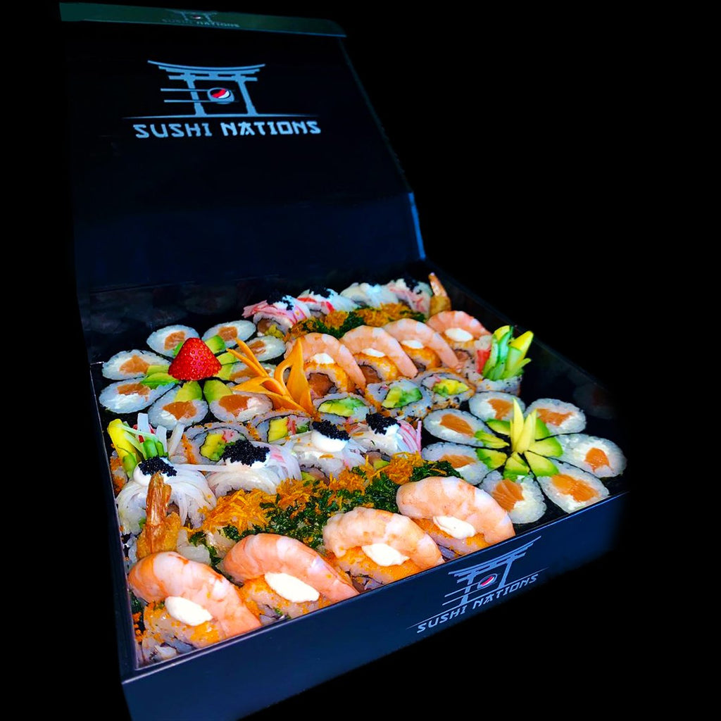 Royal Smoked Salmon Mega Rolls VIP Box by Sushi Nations - Freshly Prepared, Fast Delivery