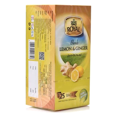 Royal Herbs Blends Lemon and Ginger Tea 25 Tea Bags - 2kShopping.com