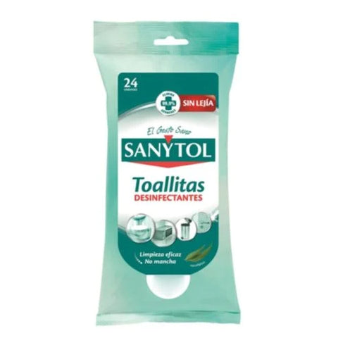 Sanytol Disinfection Disposable Cleaning Wipes 24 Counts - 2kShopping.com
