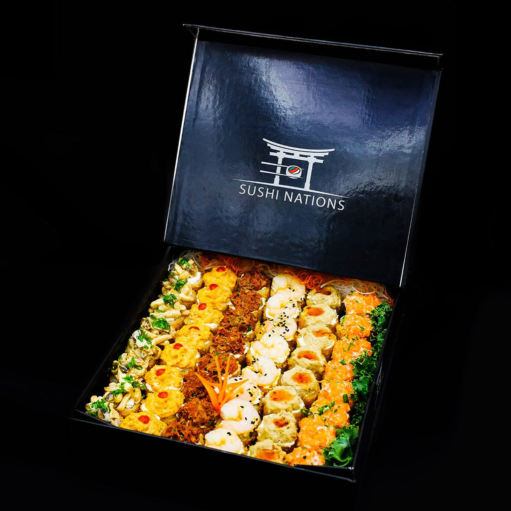 VIP Box Mix With Hot Rolls Variety by Sushi Nations - Freshly Prepared, Fast Delivery