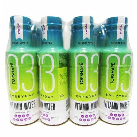 Top Shape 3 Vitamin Water Green Apple 500ml x Pack of 12 - 2kShopping.com