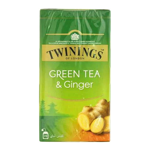 Twinings Green Tea and Ginger 25 Tea Bags - 2kShopping.com