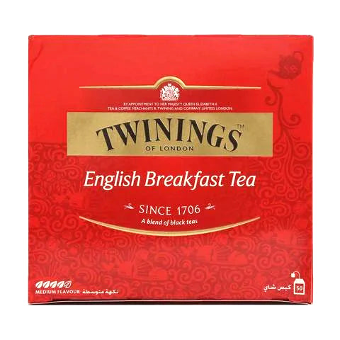 Twinings Medium Flavor English Breakfast Tea 50 Tea Bags - 2kShopping.com