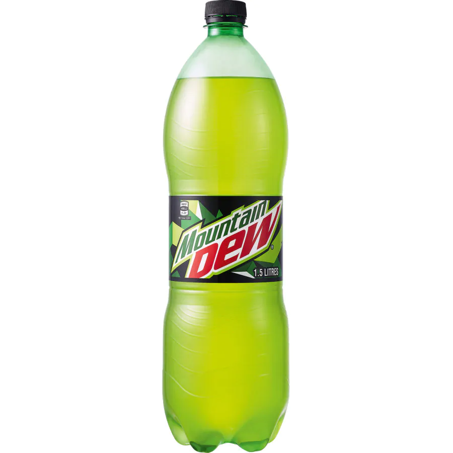 Mountain Dew Carbonated Soft Drink, 1.5 L PET - 2kShopping.com - Grocery | Health | Technology