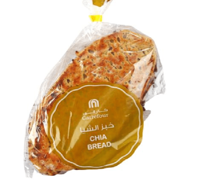 Carrefour Chia Bread 4 Piece - 2kShopping.com - Grocery | Health | Technology