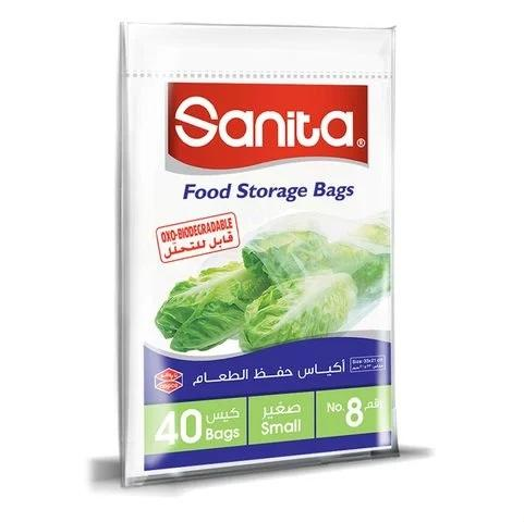 Sanita Food Storage Bags Biodegradable #8 40 Bags... - 2kShopping.com - Grocery | Health | Technology