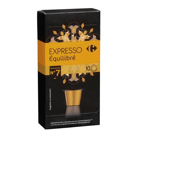 Carrefour Espresso Balance Coffee Pods 10 Capsules - 2kShopping.com - Grocery | Health | Technology