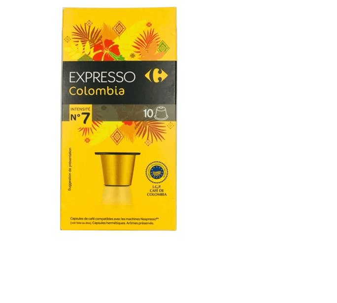 Carrefour Colombian Coffee Pods 10's - 2kShopping.com - Grocery | Health | Technology
