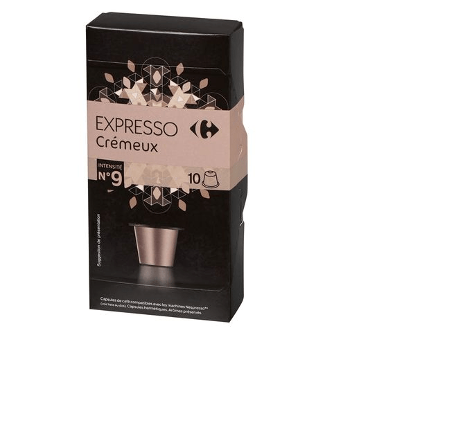 Carrefour Creamy Espresso Coffee Capsules Pack Of 10 (52g) - 2kShopping.com - Grocery | Health | Technology