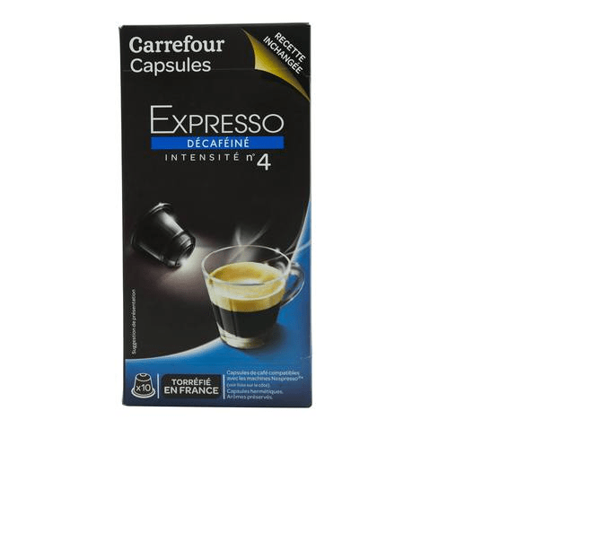 Carrefour Decaffeinated Espresso Coffee Pods 52g x10 - 2kShopping.com - Grocery | Health | Technology