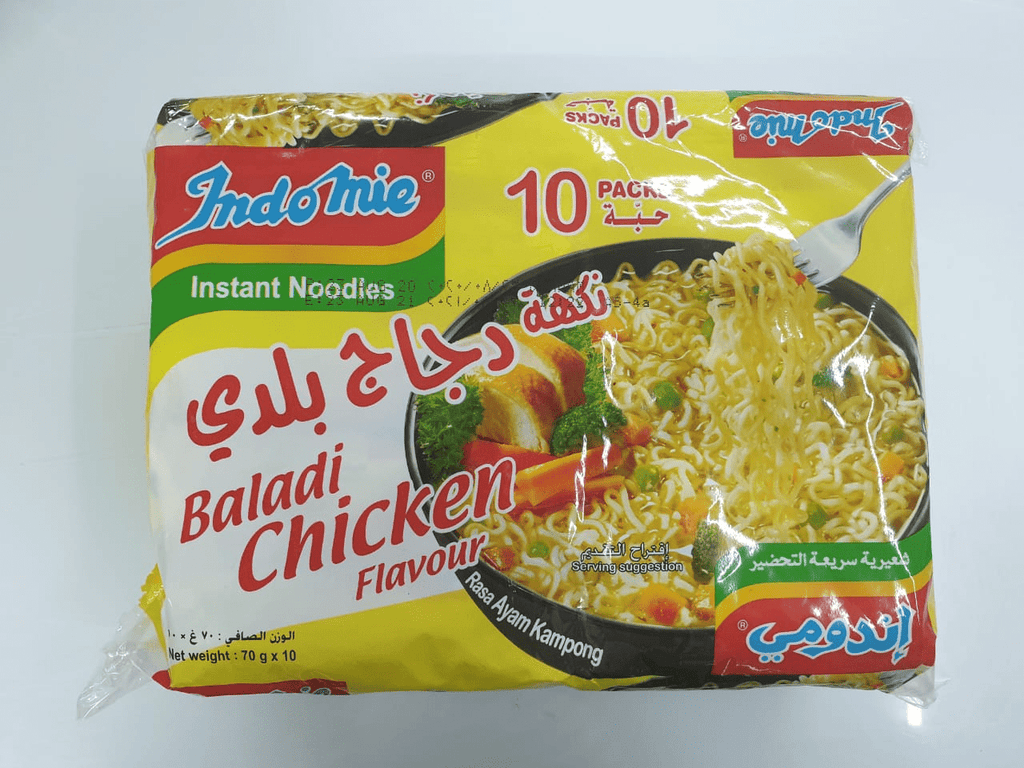 Indomie Baladi Chickern Flavor 70g  Pack of 10 - 2kShopping - Grocery | Health | Technology