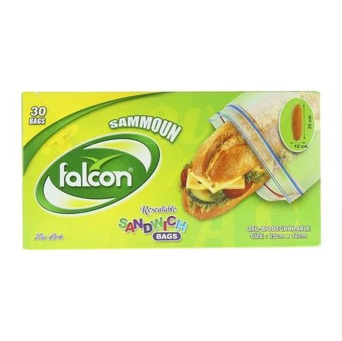 Falcon Sammoun Resealable Sandwich Bags 30 Pieces - 2kShopping - Grocery | Health | Technology