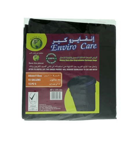Enviro Care Garbage Bags Heavy Duty Bio-Degradable 55 Gallons - 2kShopping.com - Grocery | Health | Technology