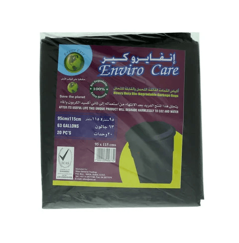 Enviro Care Garbage Bags Heavy Duty Bio-Degradable 63 Gallons 20 Bags - 2kShopping.com - Grocery | Health | Technology