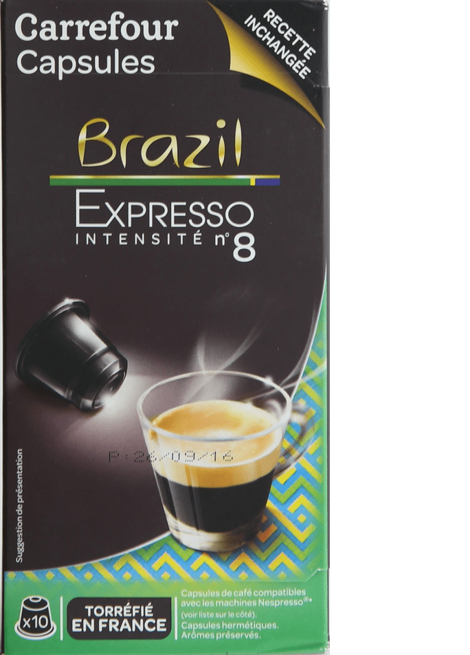 Carrefour Brasilian Coffee Pod 10 Capsules 52g - 2kShopping.com - Grocery | Health | Technology