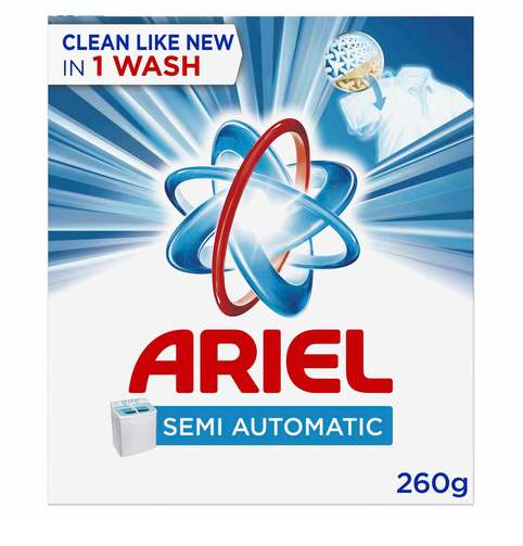 Ariel Semi Automatic Laundry Powder Detergent Original Scent Blue 260g - 2kShopping.com - Grocery | Health | Technology