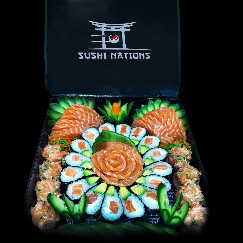 Royal Smoked Salmon Samba Avocado VIP Box by Sushi Nations - Freshly Prepared, Fast Delivery