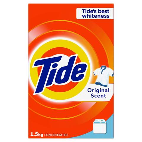 Tide Laundry Powder Detergent Top Load Original Scent 1.5Kg - 2kShopping - Grocery | Health | Technology