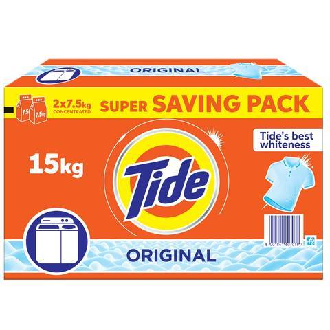 Tide Top Load Detergent Powder Original 15kg - 2kShopping.com - Grocery | Health | Technology