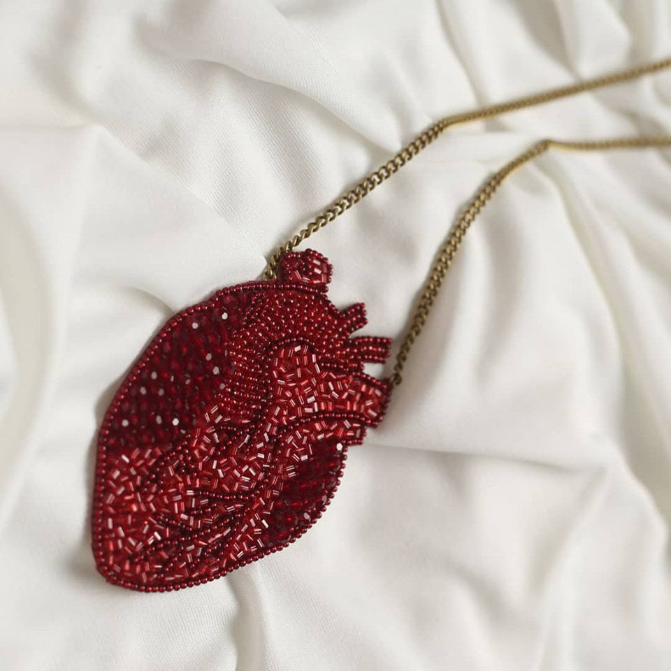 Anatomic Heart Necklace
