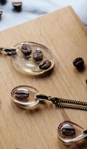 Oval Coffee Bean Necklace
