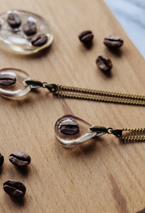 Teardrop Coffee Bean Necklace