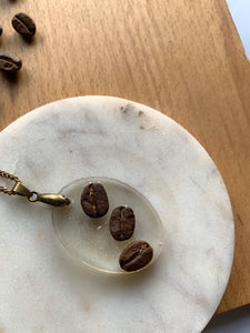Triple Coffee Bean Necklace
