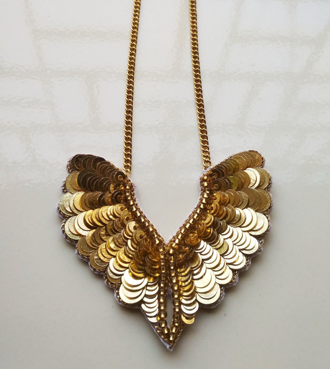 Icarus Wings Necklace - Gold