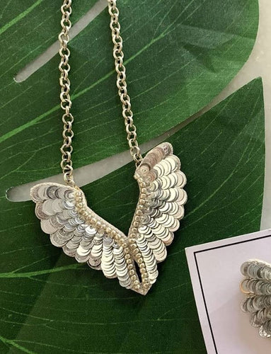 Icarus Wings Necklace - Silver