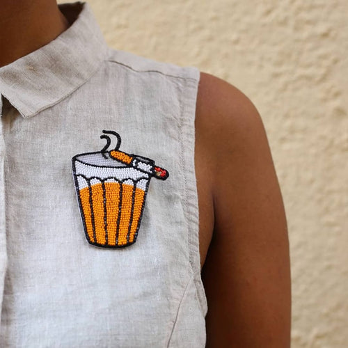 Chai-Cigarette Brooch/Necklace