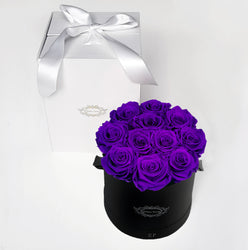 PURPLE | ROUND BLACK BOX