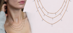 Artisan Carat Model Stackable diamond Necklace