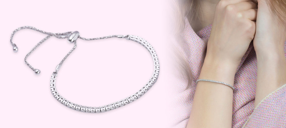 Artisan Carat Diamond Bolo tennis bracelet model